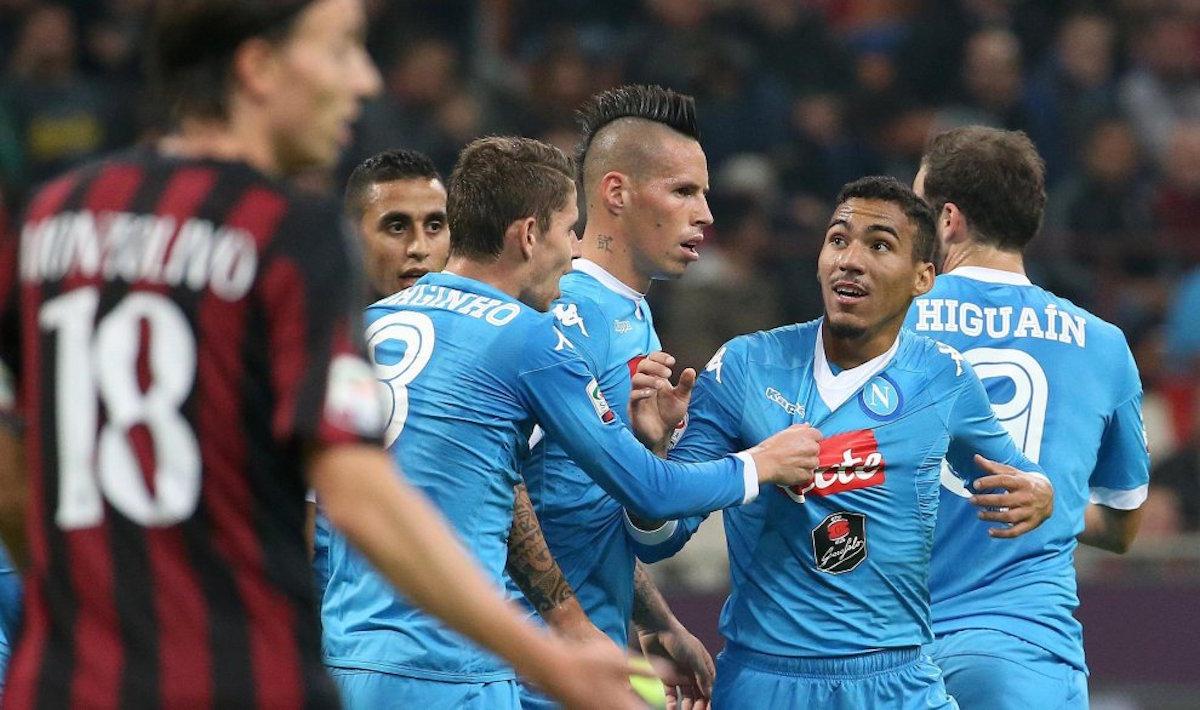 Ставки на футбол на Наполи — Милан. Ставки на чемпионат Италии 25 Августа 2018